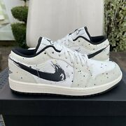 Nike Air Jordan 1 Low Se And039brushstrokeand039 Size 9 Style Dm3528-100