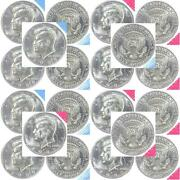 1989 P D Kennedy Half Dollar Mint Cello Roll 20 Us Coin Lot