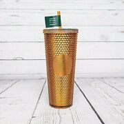Starbucks Honeycomb Studded Gold Tumbler 50th Anniversary Limited Edition