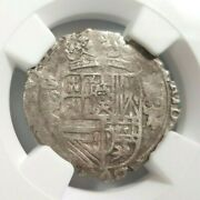 1622 Philip Iv Spanish Netherlands Ngc Vf30 Silver 1/16 Patagon Pirate Cob Coin