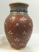 Rare Antique Villeroy And Boch Stoneware Vase Mettlach 1875 Form Germany 9andrdquo High