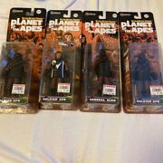 Planet Of The Apes Action Figure Set Of 4 [soldier, General] Medicom Toy G5691