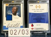 Ben Wallace 2003-04 Flair Final Edition Cuts And Glory Auto Jersey 2/3 Rare Hof