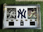 Mickey Mantle New York Yankees Framed 7 World Series Rings And Photos Mlb
