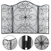 Cut Off The Embers Fireplace Panels Retro Wrought Iron Fire Screen For Grills