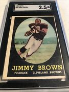 1958 Topps Jimmy Jim Brown 62 Sgc 2.5 Gd+ Cleveland Hof Rc Rookie Card