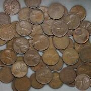 1947 S Lincoln Wheat Cent Roll 50 Circulated Pennies Us Coins