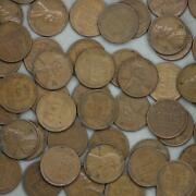 1951 S Lincoln Wheat Cent Roll 50 Circulated Pennies Us Coins
