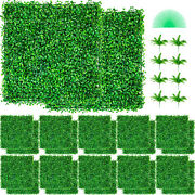 Artificial Boxwood Panel Boxwood Hedge Wall Panels Uv 24pcs 20 X 20 For Fence