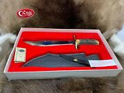 Case Xx 100th Anniversary Stag Big Bowie Knife And Leather Sheath Mint In Box A1