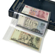 10pc 3 Grids Plastic Currency Page Paper Money Banknote Collection Storage Sheet