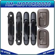 Exterior Interior Door Handles Set/6 For 1998-2003 Toyota Sienna Left And Right