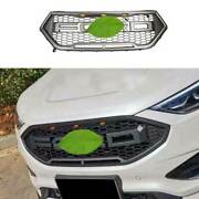 For Ford Edge 2019-2021 Matte Gray Front Center Mesh Grille Grill Cover Trim 1pc