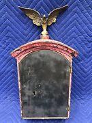 Vintage Rare Fire Police Alarm Call Box Watch Station With Brass Eagle And Key