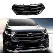 For Ford Edge 2015-2018 Paint Black Front Center Mesh Grille Grill Cover Trim