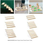 Acrylic Wooden Display Rack For Cupcake Makeup Perfume Collectibles Toys