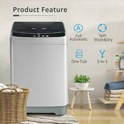 Full-automatic Compact 2 In 1 Laundry Washer 13lbs With Drain Pump Led Display