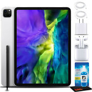 Apple 11 Ipad Pro Early 2020, 128gb, Wifi + 4g Lte, Silver With Airpods 2