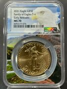 2021 50 Gold American Eagle Type 1 Ngc Er Ms 70 Eagle Core Holder 150 Known