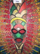 Hand Crafted Warrior Mask Hand Painted Tiles