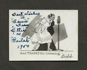 Hattie Mcdaniels Orig Signed Radio Ad Card Gone With The Wind Star