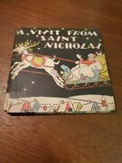 1937 Christmas First Edition Book A Visit From St. Nicholas By Clemont C. Moore