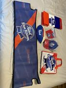 Pabst Blue Ribbon Pbr Lot Misc Rare Items Cooler Hat Football Soft Cooler Cover