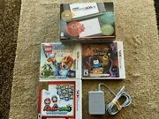 Nintendo New 3ds Xl 4gb Black Handheld System W/box/charger And 3 Games - Complete