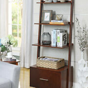 American Heritage Ladder Bookcase With File Drawer Espresso