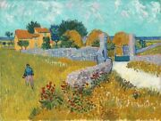 Art-print-farmhouse-in-provence-vangogh-55x42in-horizontal-image-on-paper-canva