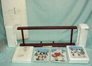 Danbury Mint Peanuts Snoopy Christmas With Charlie Brown Panoramic Plate Set