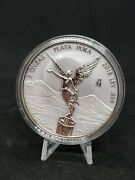 2018 Mexico 2 Oz Silver Libertad Reverse Proof Coin In Capsule Low Mintage Nice
