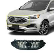 For Ford Edge 2019-2021 Paint Black Front Center Mesh Grille Grill Cover Trim