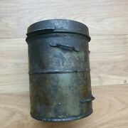 Xtra Rare Original Ww1 Gas Mask Canister With Stamp And Left Native Green Paint