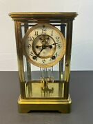 Antique Ansonia 8-day Open Escapement Crystal Regulator Mantel Clock - Working