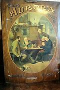 Aurora Illinois Brewing Co. Pre-prohibition Tin Over Cardboard Beer Sign-1908