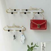 Wall-mounted Wrought Iron Love Letter Coat Wall Hanging Key Hook Set Of 2 Wall