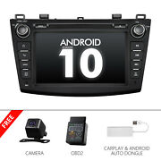 Cam+obd+carplay+for Mazda3 8 Car Stereo Double Din Cd Player Dvd Gps Android 10