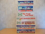 Lot Of 7 Vintage Hess Toy Truck Collectibles 1990 91 92 94 95 96 And 97