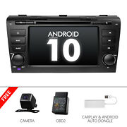 Cam+obd+carplay+for Mazda 3 Android10 7car Radio Bluetooth Touch Screen Gps Dvd