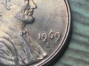 1969 S Lincoln Penny Double Die Obverse