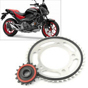 Set Front 16tandrear Motor Engine Chain Drive Sprocket 43t For Honda Nc700 2012-15