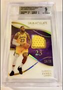 2019-20 Immaculate Materials Game Worn Patch Jersey /23 Lebron James Bgs 9 Laker