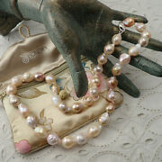 Honora Cultured 12 - 15 Mm Baroque Ming Pearl Sterling Silver Clasp 20 Necklace