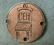 Pictorial 1883 Seated Liberty Silver Dime Love Token Chair W/ Ceh Initials 4577