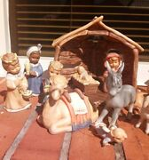 Goebel Weihnacht 14 Piece Nativity Set Family And Animals All W/ Original Boxes