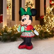 New 5 Ft Minnie Mouse Christmas Inflatable Disney Christmas Air Blown
