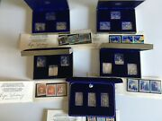 1976 Canada Montreal Olympics Silver Sculptures Stamp Set Of 5 With Box