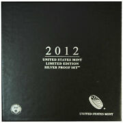 2012 Limited Edition Silver Proof Set Black Box And Coa 7 Coins And Silver Eagle
