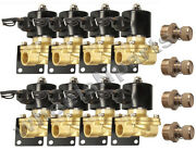 8 1/2npt Air Ride Suspension Brass Valves Mounts And Adjustable Slow Down Fitting